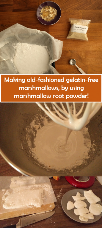 Making old fashioned gelatin free marshmallow using marshmallow root