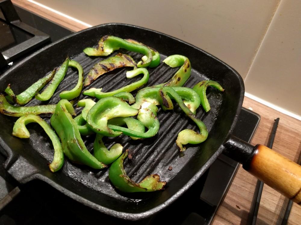 grilling green paprika