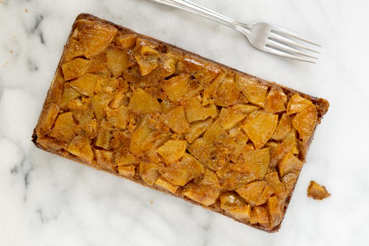 top view of pear cake