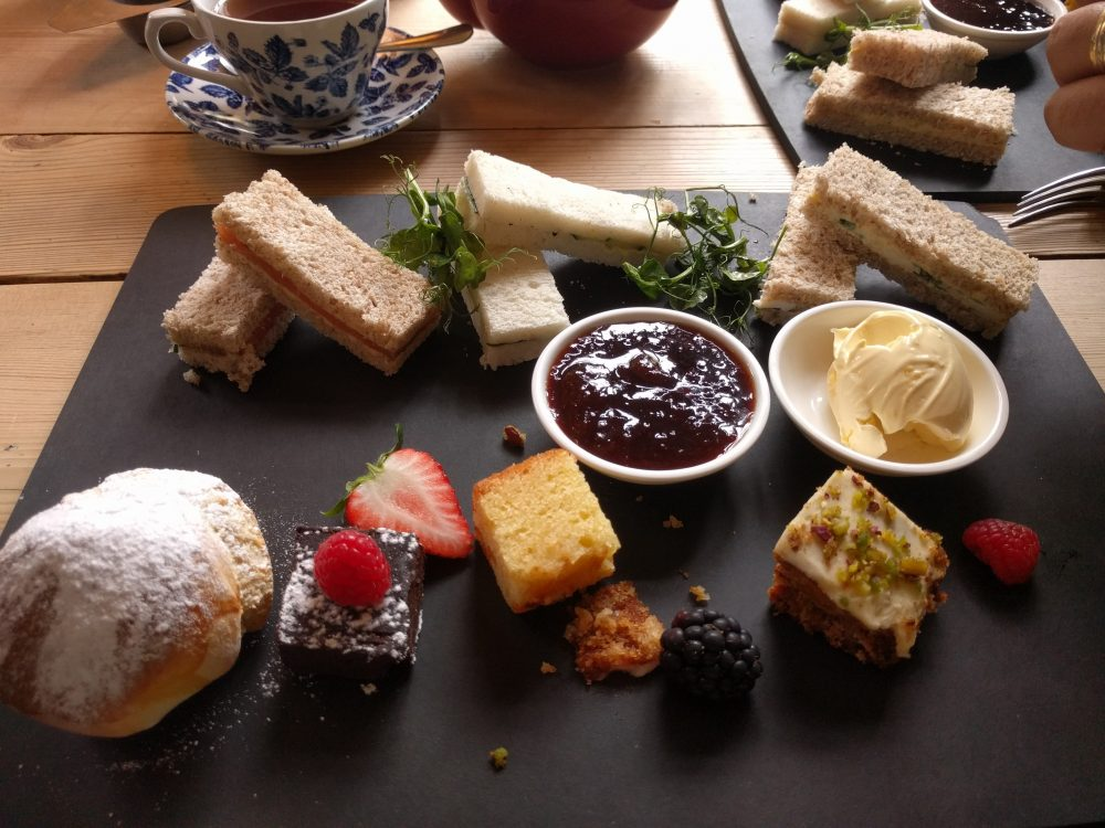 an afternoon tea at the Bel and the Dragon