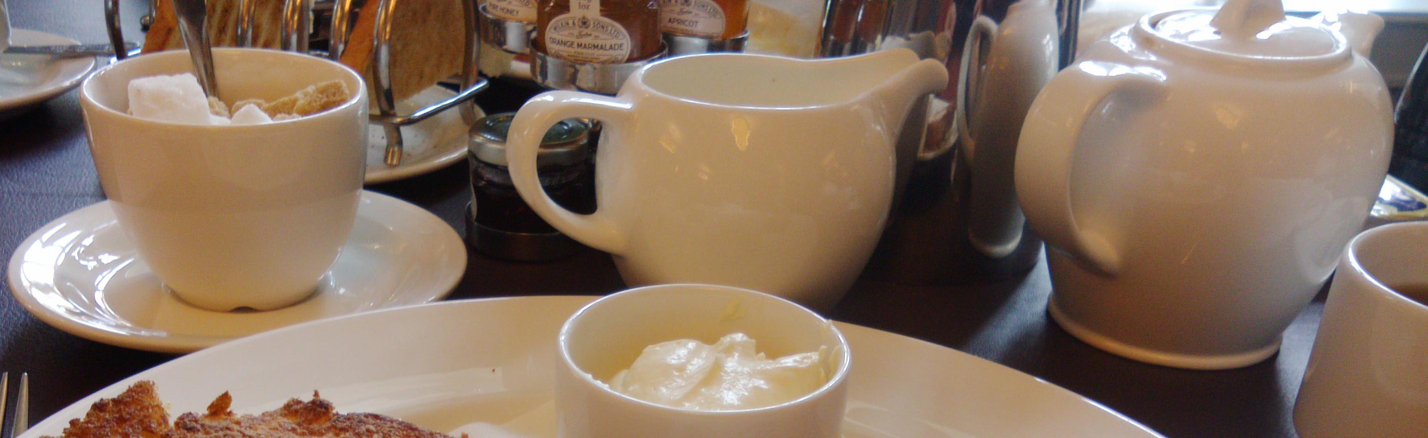 tea cups and pot