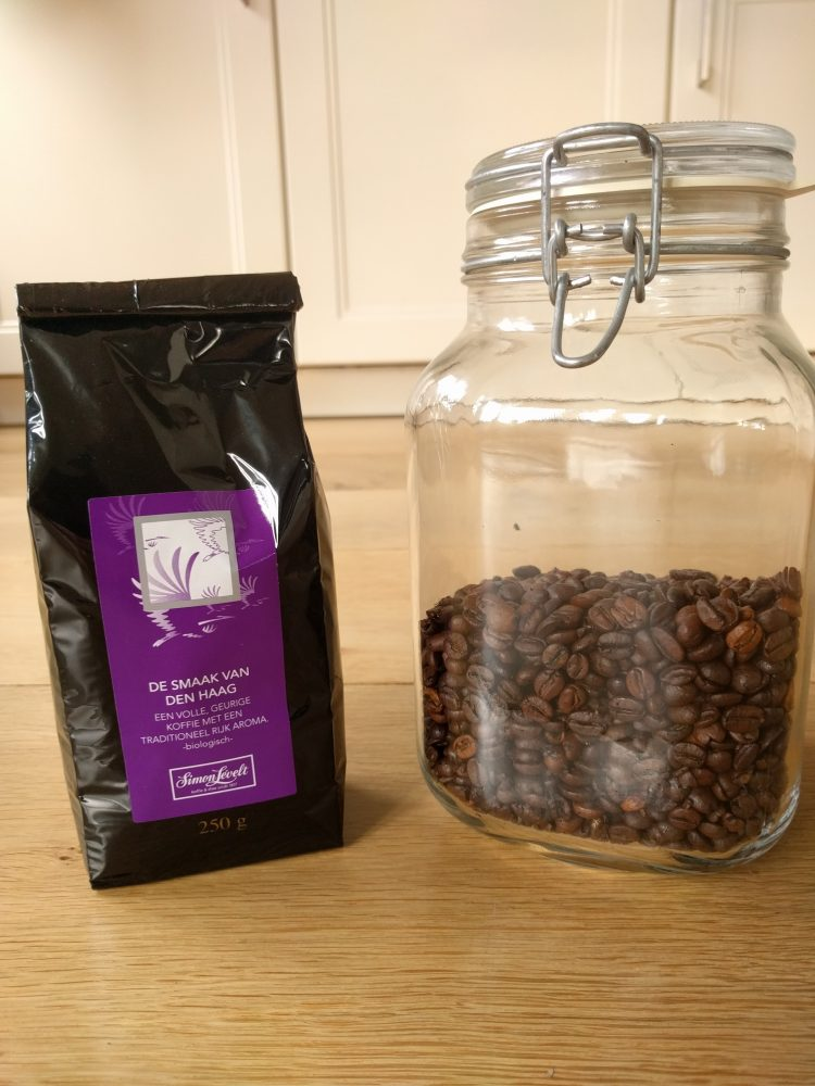 coffee bean packages glass jar and plastic bag