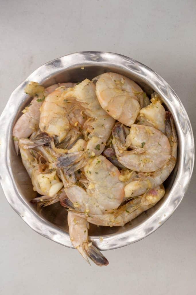 uncooked shrimps
