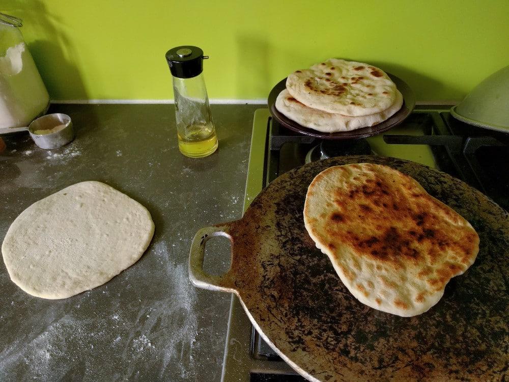 baking pita breads