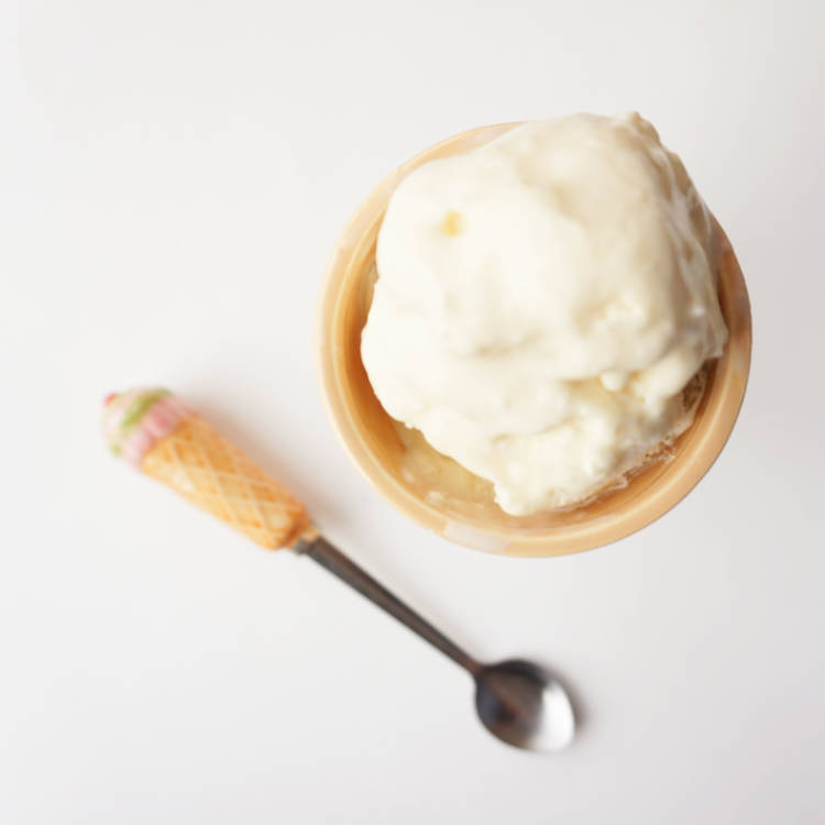 2 ingredient vanilla ice cream - top view