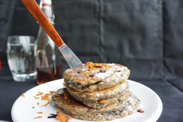 carrot cake pancake stack