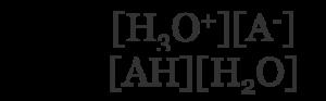 equilibrium constant for a weak acid