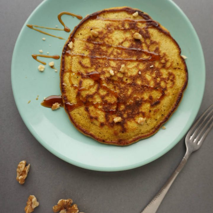 pumpkin pancakes with sugar syrup