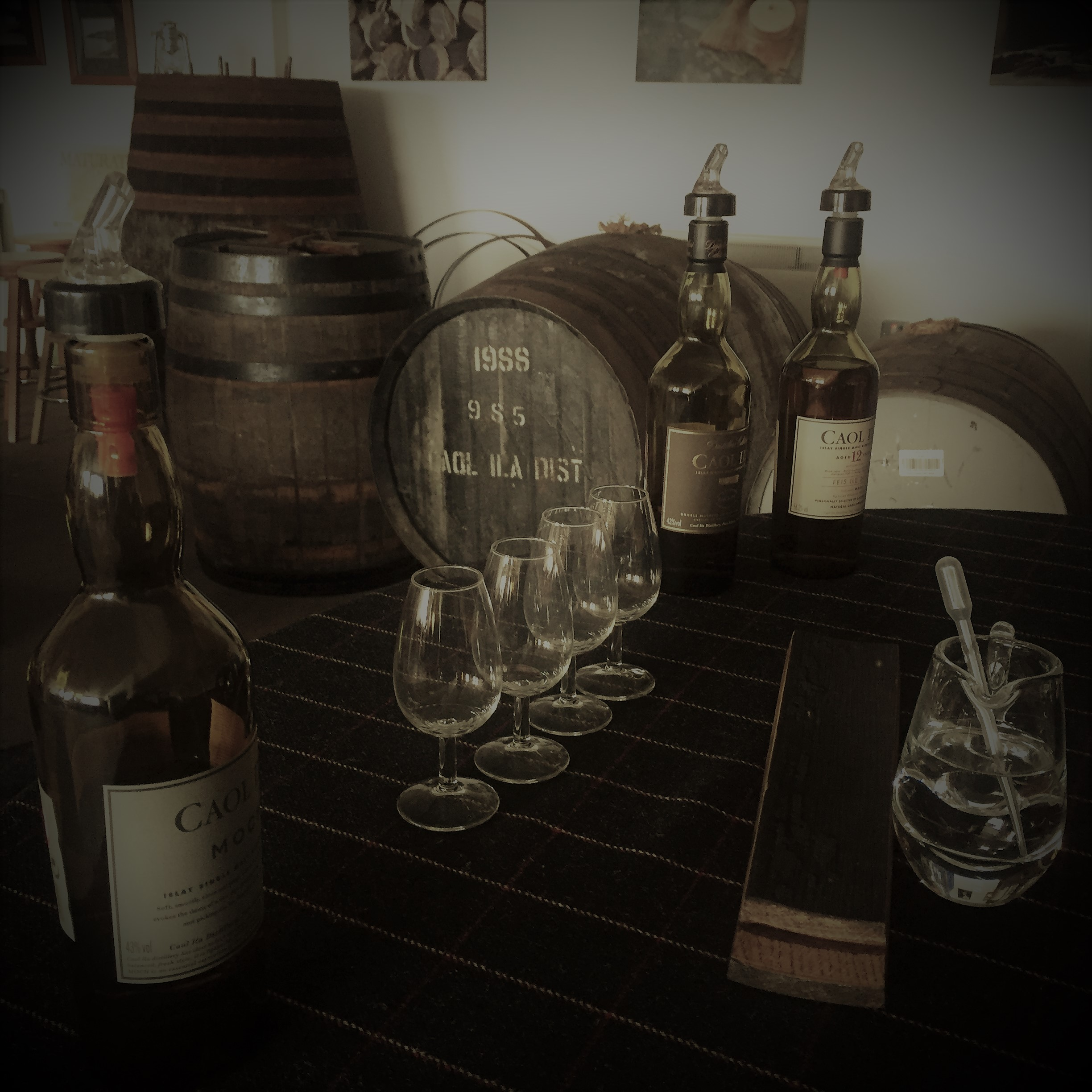 whisky glasses and vessel