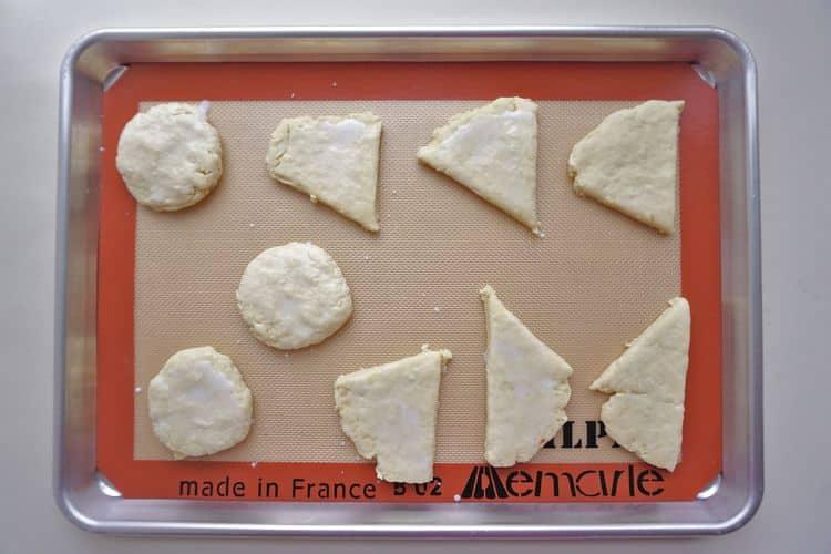 scone dough ready to bake