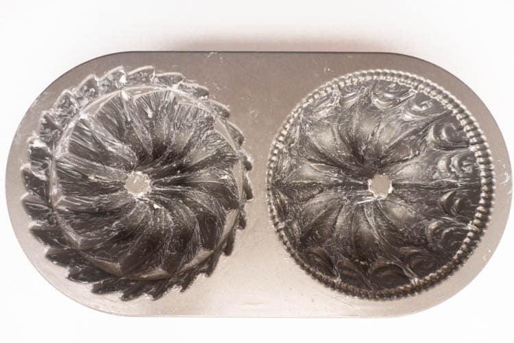 buttered bundt pans