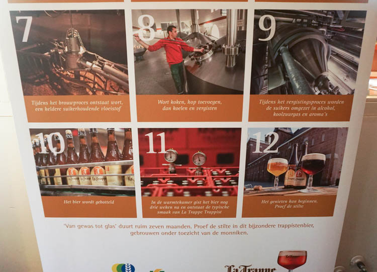 last few steps of the Trappist brewing process
