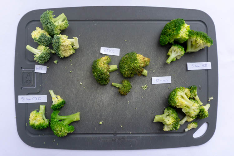 broccoli cooked in several ways