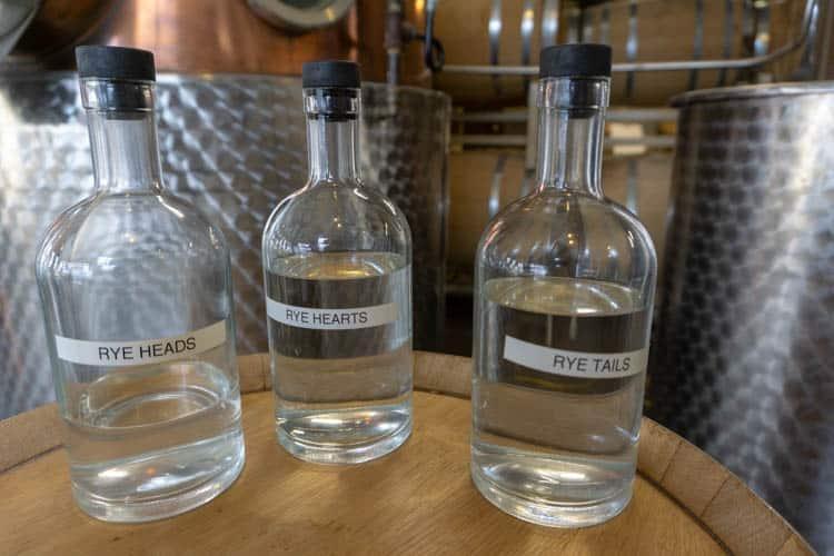 distillate portions