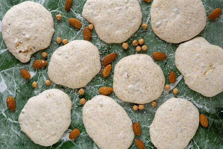 almond coconut aquafaba meringues from Sweet