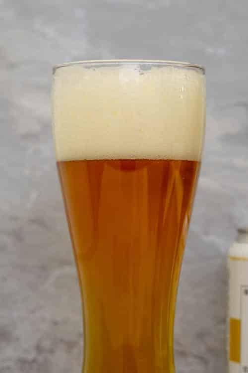 fresh beer foam