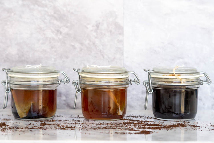 three cold brew coffee experiments