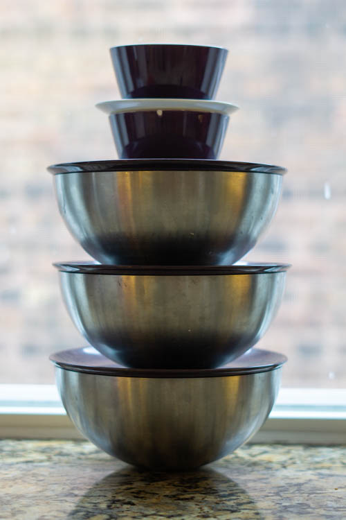 soaking lentils and beans stacked on top