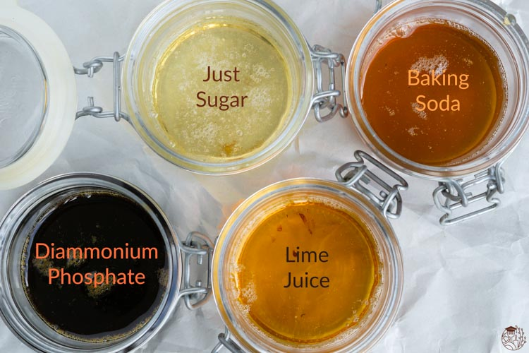 making sugar syrups with different additives