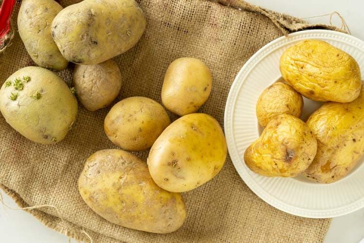 potatoes stored at 3 temp