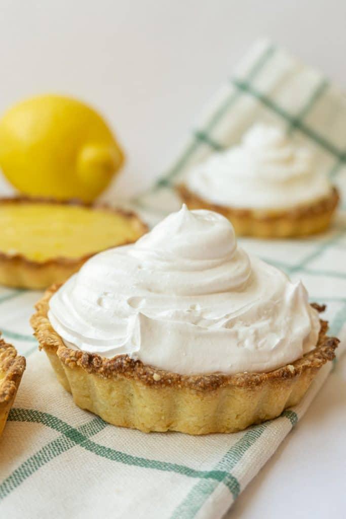 lemon with italian meringue pies