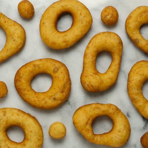 fried water roux donuts